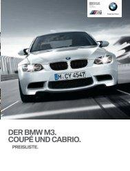 Preisliste (PDF - 0,6 MB) - BMW Deutschland