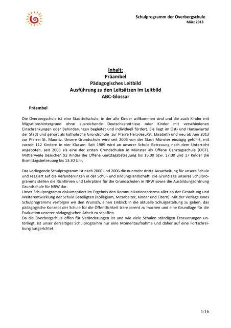 Präambel Pädagogisches Leitbild Ausführung zu den Leitsätzen im ...