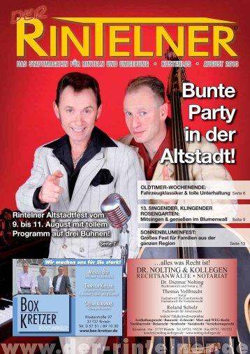 Bunte Party in der Altstadt! - Rinteln