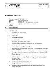 Protokoll der Sitzung vom 25.09.2013 - Hagen