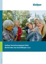 Gothaer Versicherungsbank 2012 Umschlag