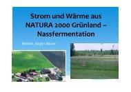 Strom und Wärme aus NATURA 2000 Grünland – Nassfermentation