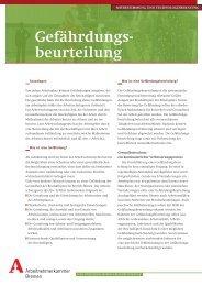 Gefährdungsbeurteilung MuT - bei der Arbeitnehmerkammer Bremen