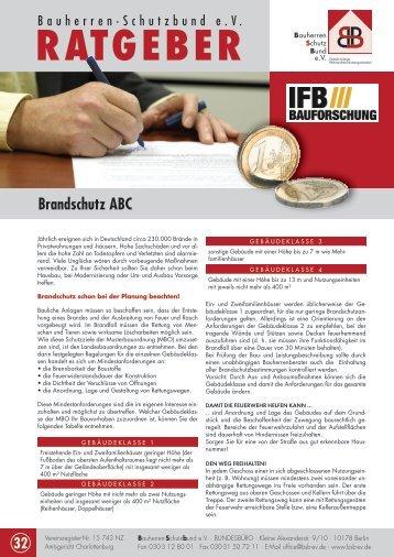 Brandschutz ABC - Bauherren Schutzbund eV
