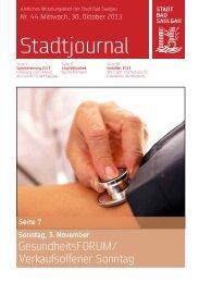 Stadtjournal Ausgabe 44/2013 - Stadt Bad Saulgau