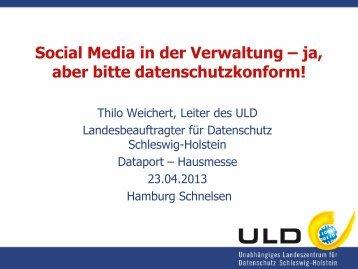 Social Media in der Verwaltung – ja, aber bitte ... - Dataport