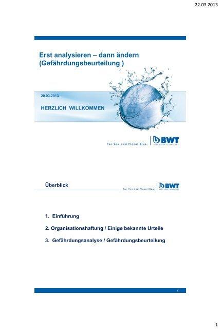 Gefährdungsanalyse, Sanierungsablauf und Maßnahmeplan