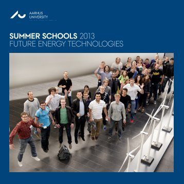 SUMMER SCHOOLS 2013 FUTURE ENERGY TECHNOLOGIES AU