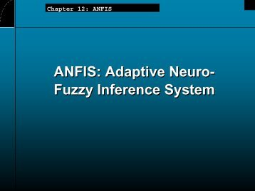 Chapter 12: ANFIS