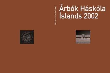 Árbók Háskóla Íslands 2002 - Háskóli Íslands