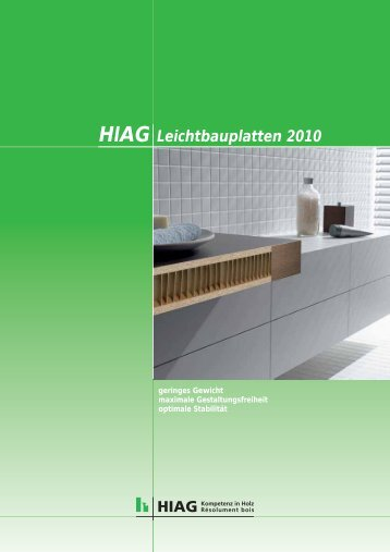 HIAG Leichtbauplatten 2010 - HIAG Handel AG