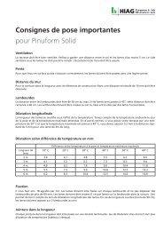 Consignes de pose pour Pinuform Solid - HIAG Handel AG