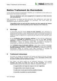 Dépliant thermobois - HIAG Handel AG