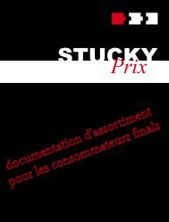 Documentation d'assortiment pour les consommateurs - Stucky ...