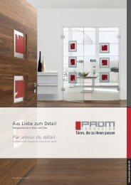 Prüm Designverbund in Holz und Glas - HIAG Handel AG