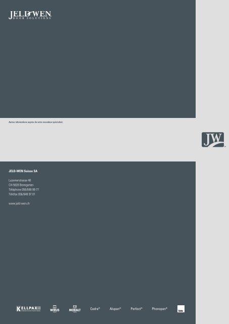 Jeld-Wen Portes d'entrée - HIAG Handel AG