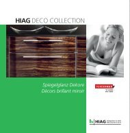 DECO COLLECTION Fundermax Spiegelglanz - HIAG Handel AG