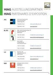 HIAG AUSSTELLUNGSPARTNER HIAG ... - HIAG Handel AG