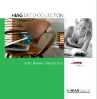 DECO COLLECTION EGGER Holz - HIAG Handel AG