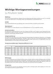 Montageanweisung zu Pinuform Solid - HIAG Handel AG