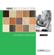 DECO COLLECTION Kronoswiss Holz - HIAG Handel AG