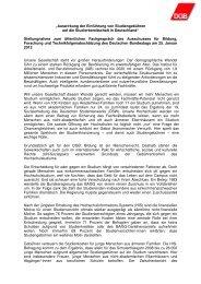 Stellungnahme Studiengebühren - DGB