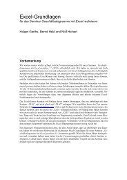Excel-Grundlagen - Hichert+Partner