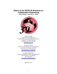 Report of the HICSS-39 Workshop on Collaboration Engineering