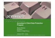 Accenture Client Data Protection Program February 09