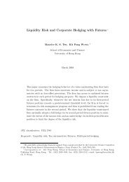 Liquidity Risk and Corporate Hedging with Futures ∗ - HIEBS