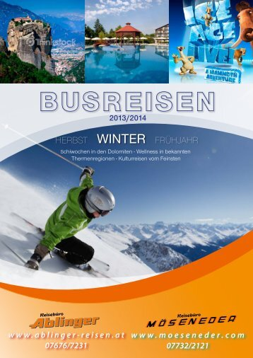 Programm Busreisen 2014 - Reisebüro Möseneder