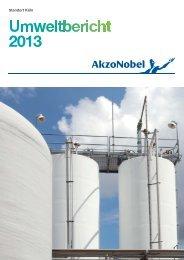 Umweltbericht Köln 2013 - AkzoNobel