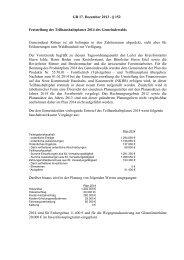 GR 17. Dezember 2013 - § 152 Feststellung des ...