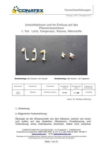 Die komplette Versuchsanleitung zum Thema - Conatex-Didactic ...