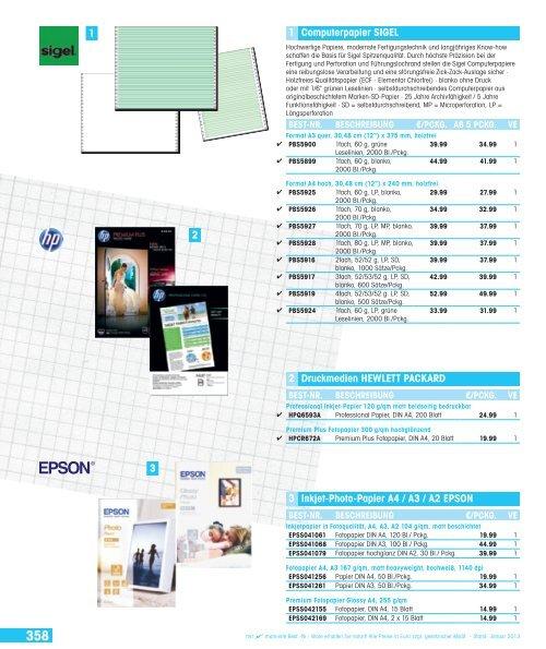 A4 200 g//qm 100 Bl. hochglänzend Sigel® Inkjet Fotopapier Everyday