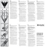instructions for use washing line replacement kit - Brabantia