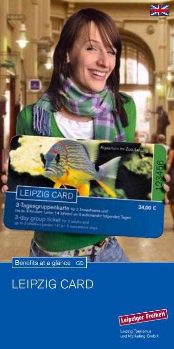 LEIPZIG CARD Leipzig Tourismus