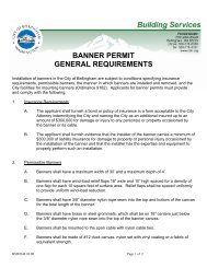 Banner Permit General Requirements - City of Bellingham