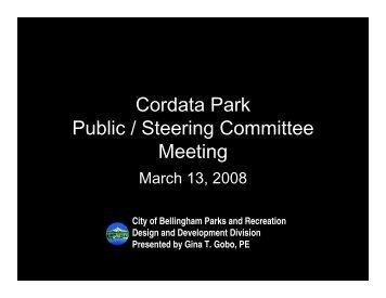 March 13, 2008 Public Meeting presentation ... - City of Bellingham