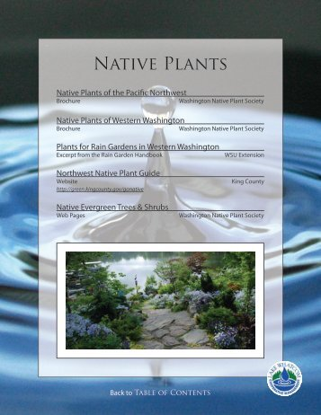 Native Plants - City of Bellingham, WA
