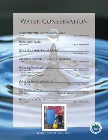 Water Conservation - City of Bellingham, WA