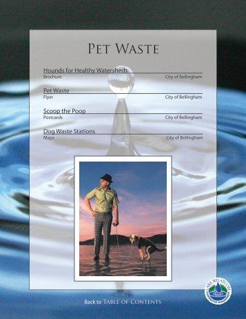 Pet Waste - City of Bellingham, WA