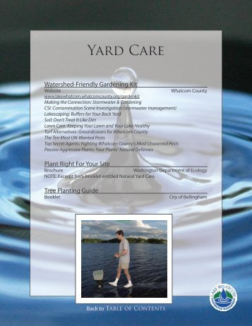 Yard Care - City of Bellingham, WA
