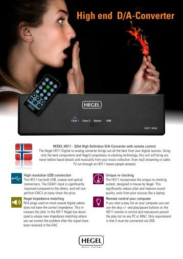 Hegel HD11 brochure - VMAX Services