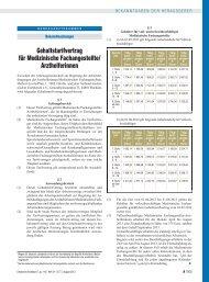 Gehaltstarifvertrag für Medizinische Fachangestellte/ Arzthelferinnen