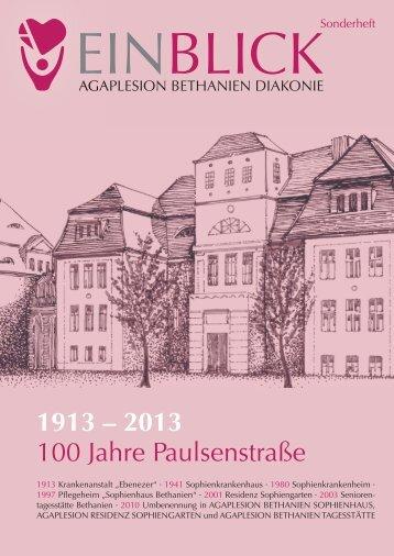 Einblick, Sonderheft 100 Jahre Sophienhaus - AGAPLESION ...