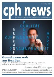 Gemeinsam nah am Kunden - CPH Chemie + Papier Holding AG