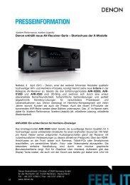Denon enthüllt neue AV-Receiver-Serie - HiFi im Hinterhof