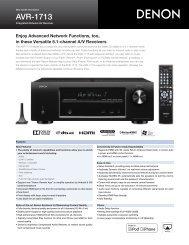 AVR-1713 - Audio General Inc.