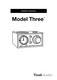 Model Three™ - Tivoli Audio